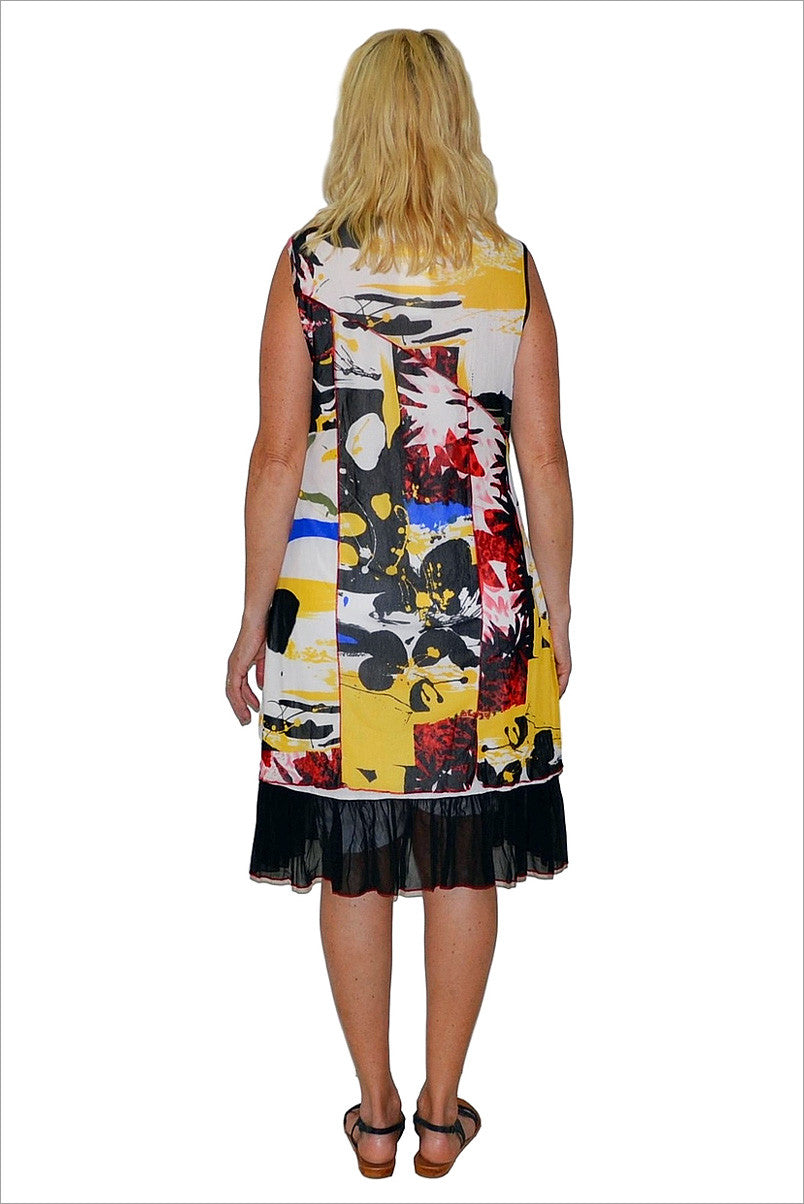 Red Yellow Paint Spot Tunic - at I Love Tunics @ www.ilovetunics.com = Number One! Tunics Destination