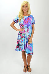 Garden Blue Tunic - at I Love Tunics @ www.ilovetunics.com = Number One! Tunics Destination