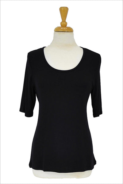 Black Short Sleeve Basic