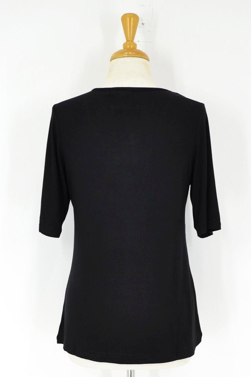 Black Short Sleeve Basic - at I Love Tunics @ www.ilovetunics.com = Number One! Tunics Destination