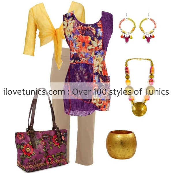 Yellow Crinkle Mesh Cardigan - at I Love Tunics @ www.ilovetunics.com = Number One! Tunics Destination