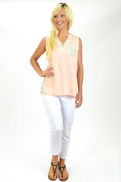Peaches and Cream Tunic Top