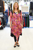 Pink Abstract Long Tunic - at I Love Tunics @ www.ilovetunics.com = Number One! Tunics Destination