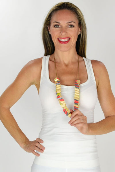 Colourful Woodchips Necklace