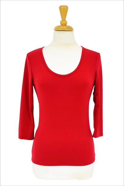Red 3/4 Sleeve Basic