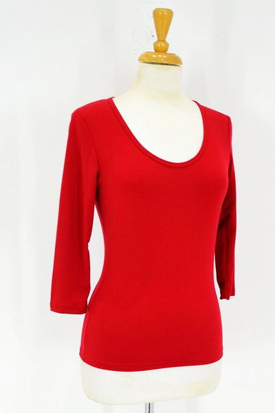 Red 3/4 Sleeve Basic - I Love Tunics @ www.ilovetunics.com