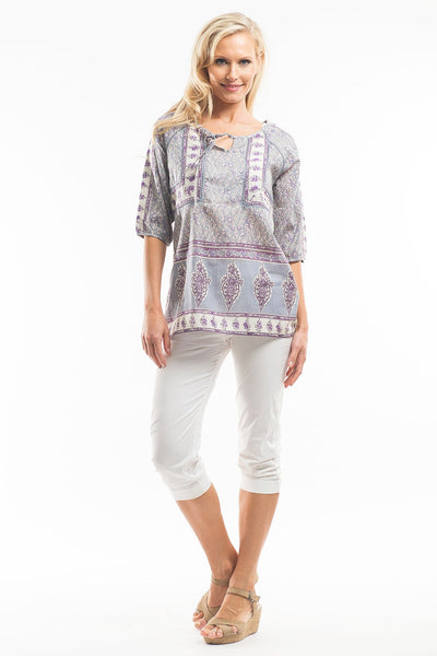 Grey Rita Tunic Top