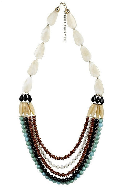 Aqua Beach Necklace - at I Love Tunics @ www.ilovetunics.com = Number One! Tunics Destination