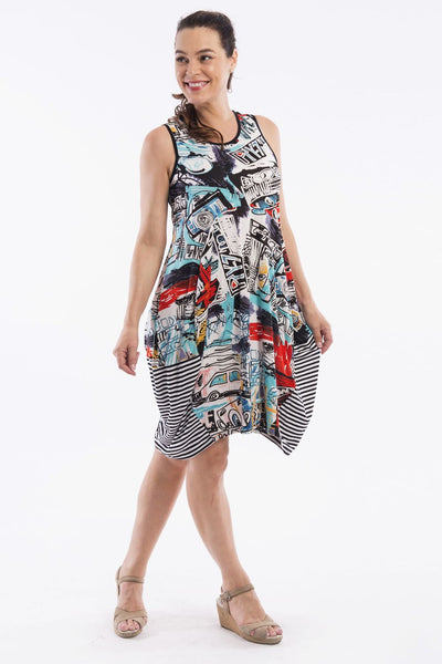 Colourful Canvas Tunic Dress by Orientique