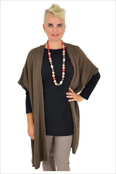 Dark Brown Knit Cardigan - at I Love Tunics @ www.ilovetunics.com = Number One! Tunics Destination