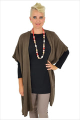 Dark Brown Knit Cardigan | I Love Tunics | Tunic Tops | Tunic Dresses | Women's Tops | Plus Size Australia | Mature Fashion