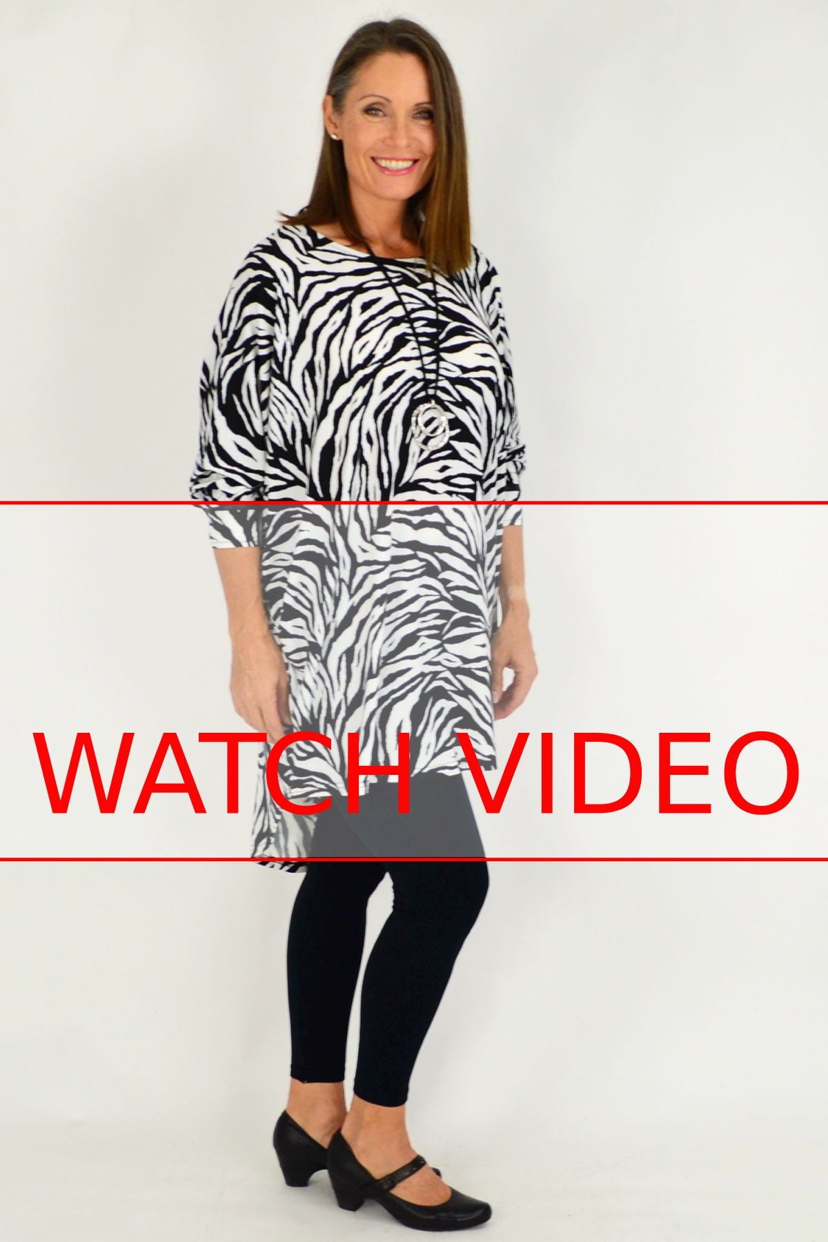 Zebra Print Relaxed Tunic | I Love Tunics | Tunic Tops | Tunic | Tunic Dresses  | womens clothing online