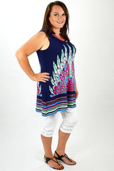 Pink Feather Tunic - at I Love Tunics @ www.ilovetunics.com = Number One! Tunics Destination