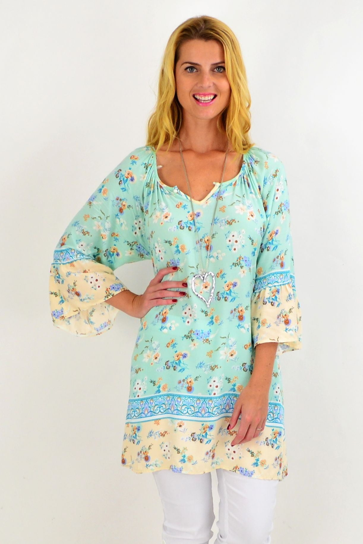 Soft Aqua Light & Pretty Tunic Top | I Love Tunics | Tunic Tops | Tunic | Tunic Dresses  | womens clothing online
