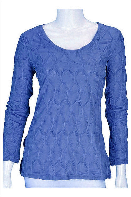 Blue Honeycomb Top | I Love Tunics | Tunic Tops | Tunic Dresses | Women's Tops | Plus Size Australia | Mature Fashion