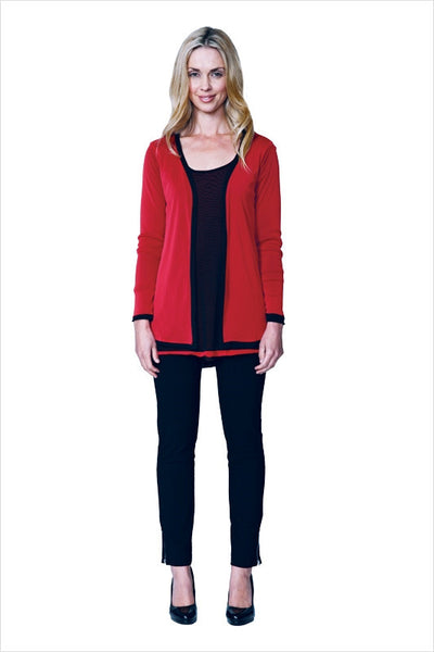 Reversible Red Black Cardigan