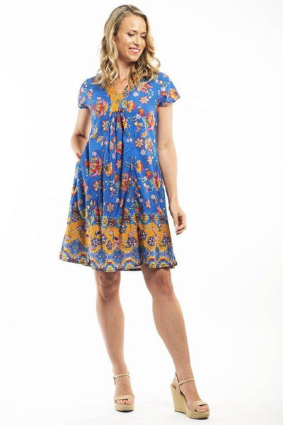 Orientique  Kamares Blue Tunic Dress
