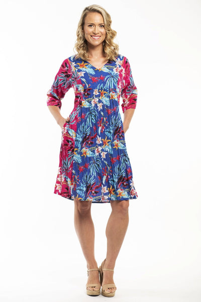 Orientique Agistri 3/4 Sleeve Cotton Dress