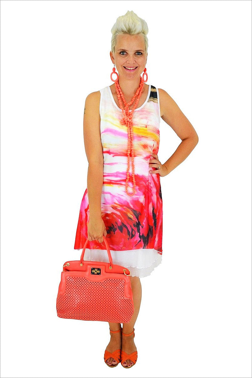 Pink Sunrise Tunic - at I Love Tunics @ www.ilovetunics.com = Number One! Tunics Destination