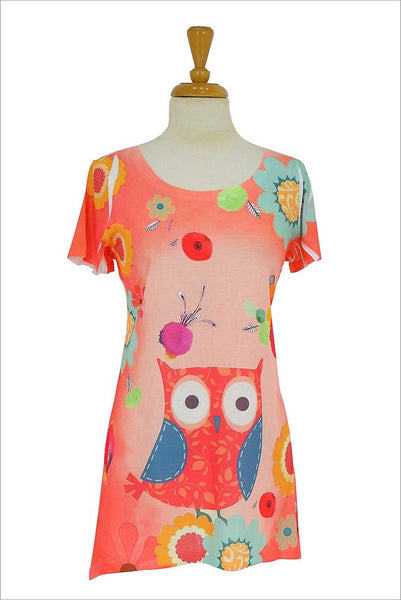 Owl and Flowers Tunic