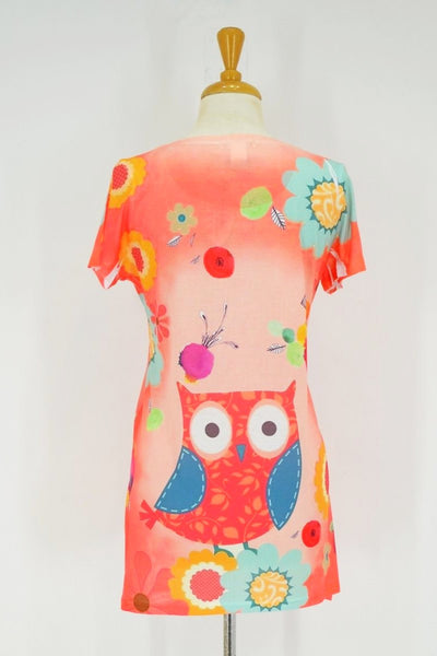 Owl and Flowers Tunic | I Love Tunics | Tunic Tops | Tunic | Tunic Dresses  | womens clothing online