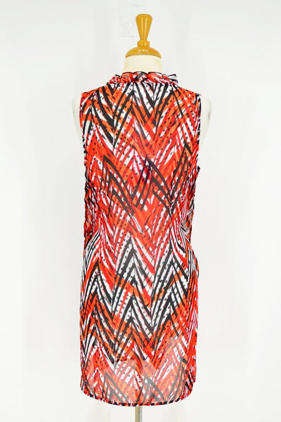 Orange Fire Ruffle Tunic - at I Love Tunics @ www.ilovetunics.com = Number One! Tunics Destination