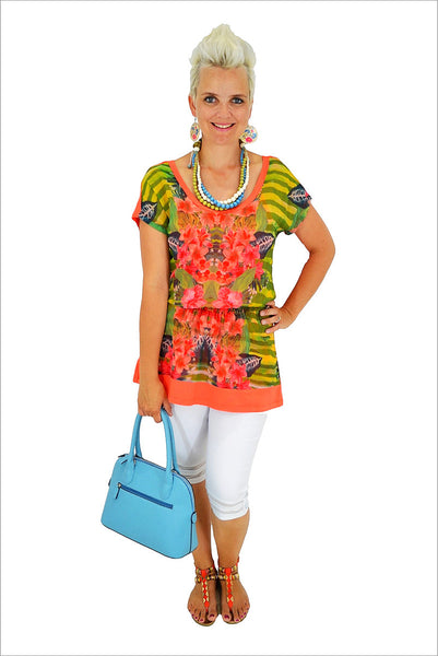 Orange Flower Tunic