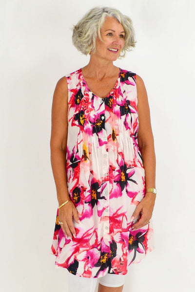 Orientique Serifos Floral Tunic Dress
