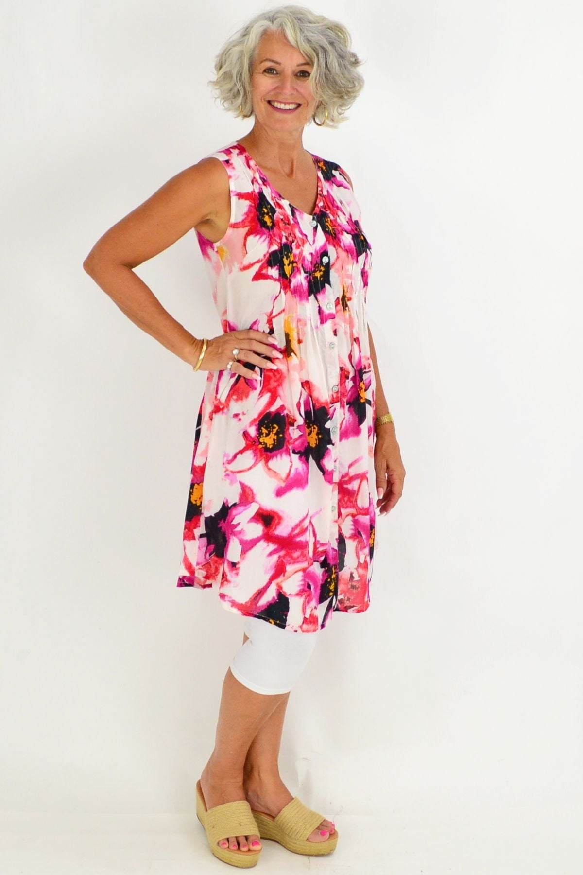 Orientique Serifos Floral Tunic Dress | I Love Tunics | Tunic Tops | Tunic | Tunic Dresses  | womens clothing online