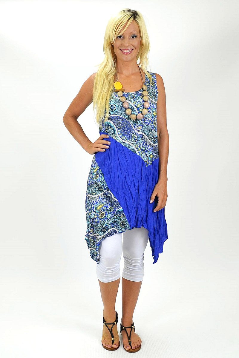 Blue Jodie Tunic - at I Love Tunics @ www.ilovetunics.com = Number One! Tunics Destination