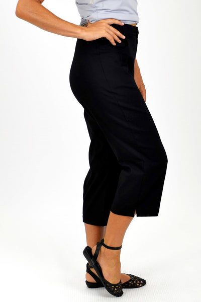Black Wide Leg 3/4 Pants - at I Love Tunics @ www.ilovetunics.com = Number One! Tunics Destination