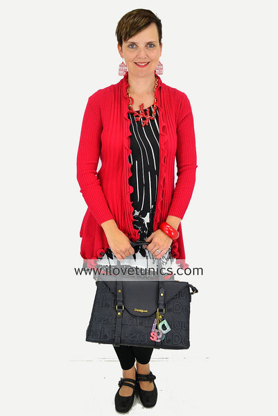 Red Cardigan - at I Love Tunics @ www.ilovetunics.com = Number One! Tunics Destination