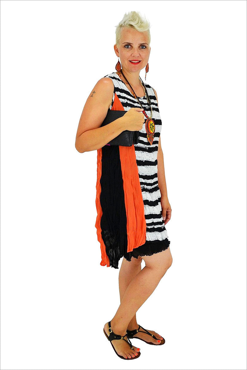 Orange Sleeveless Line Tunic - at I Love Tunics @ www.ilovetunics.com = Number One! Tunics Destination