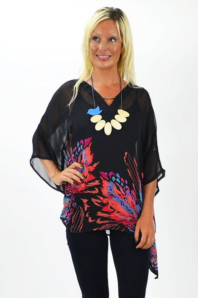 May Flower Poncho - at I Love Tunics @ www.ilovetunics.com = Number One! Tunics Destination