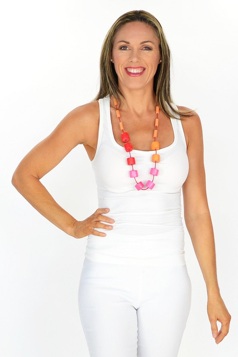 Pretty in Pink Necklace - at I Love Tunics @ www.ilovetunics.com = Number One! Tunics Destination