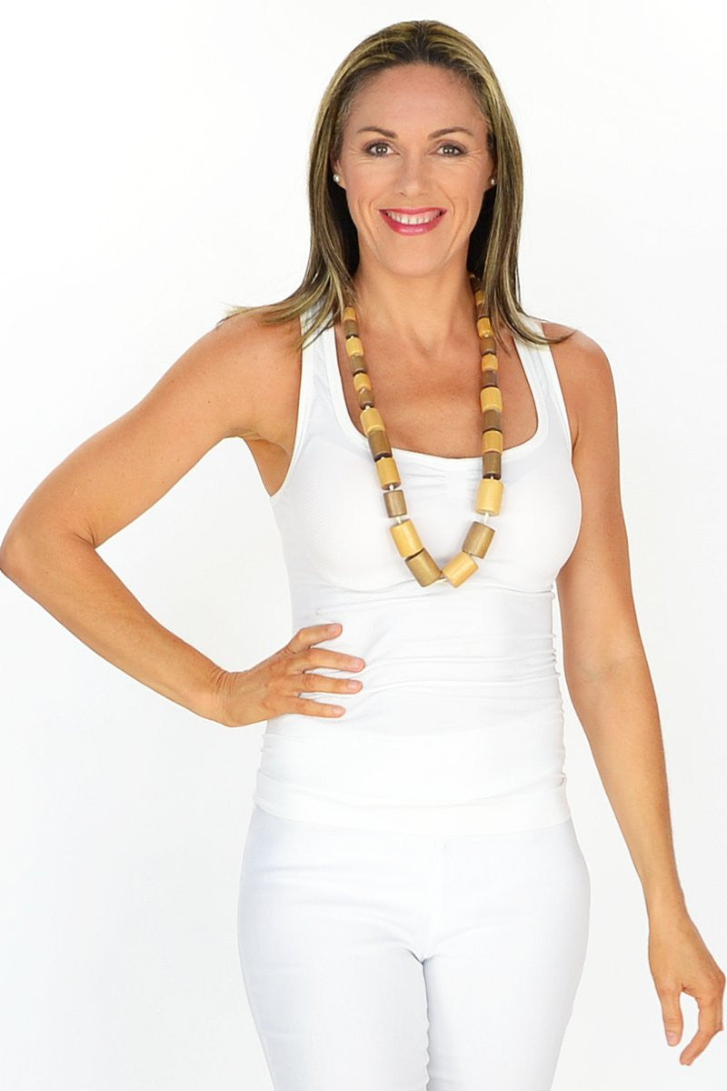 Long Wooden Bead Necklace - at I Love Tunics @ www.ilovetunics.com = Number One! Tunics Destination