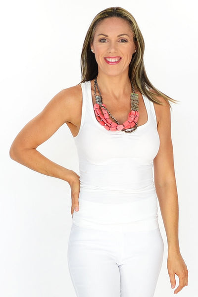 Multilayer Coral Necklace