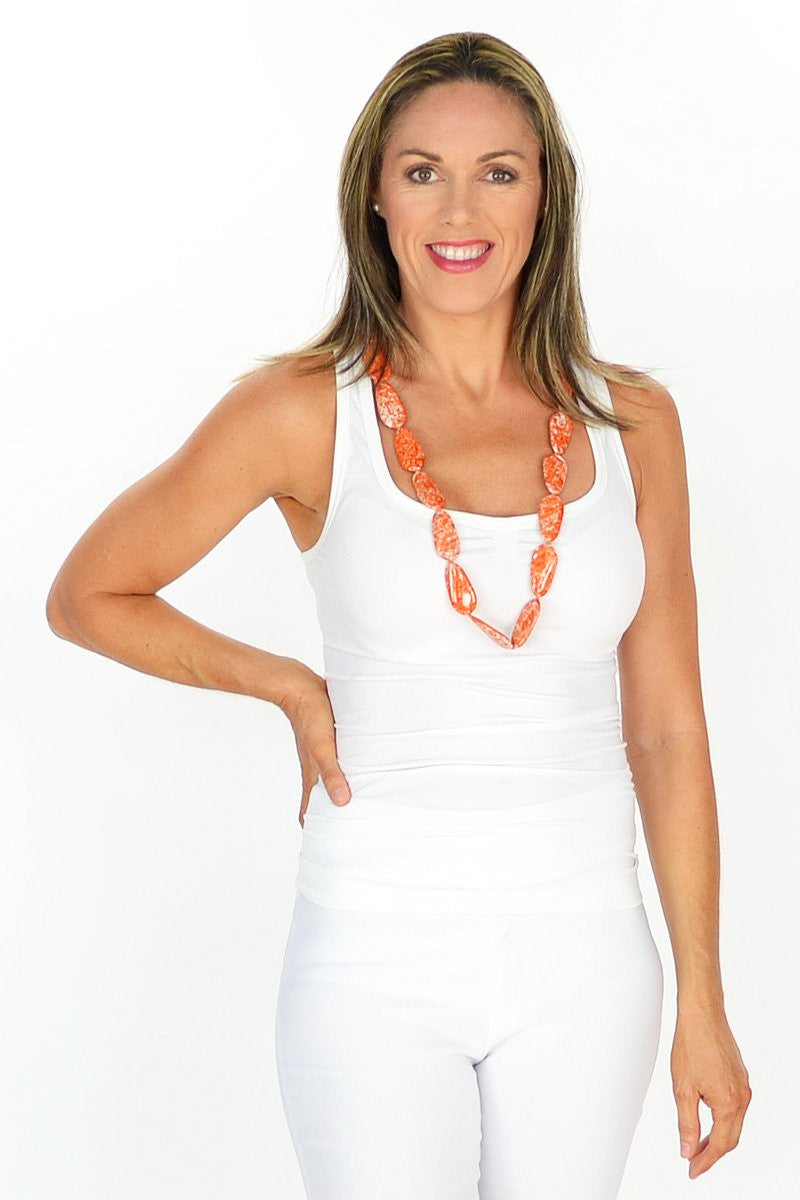 Orange Speckled Necklace | I Love Tunics | Tunic Tops | Tunic | Tunic Dresses  | womens clothing online