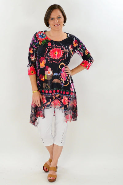 Exotic Garden Tunic Top