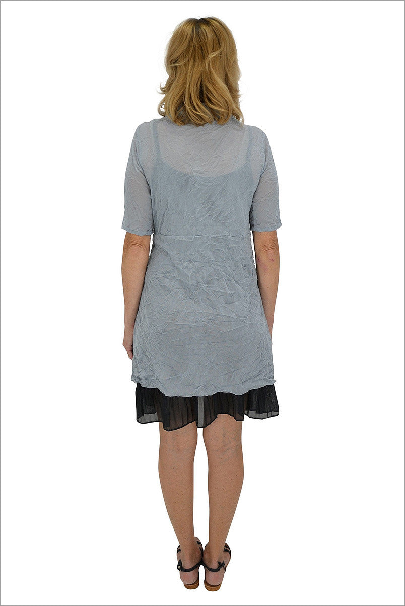 Grey Long Mesh Cardigan - at I Love Tunics @ www.ilovetunics.com = Number One! Tunics Destination