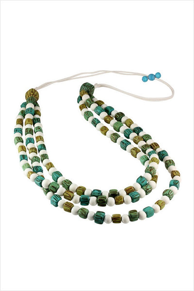 Square Round Beads Necklace - I Love Tunics @ www.ilovetunics.com
