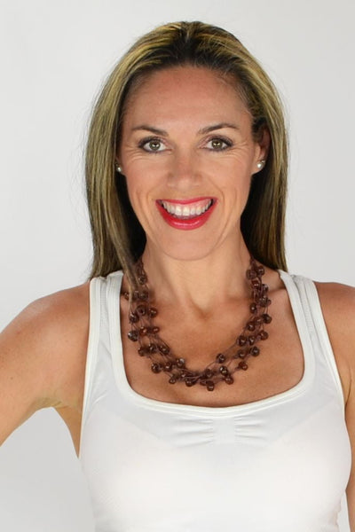 Multi strand Brown Beads Necklace
