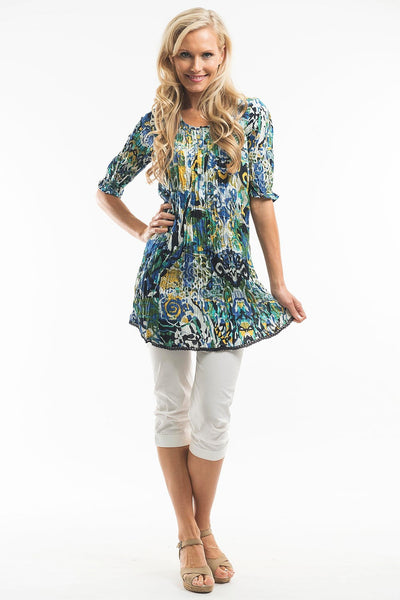 Crinkle Shirt Tunic