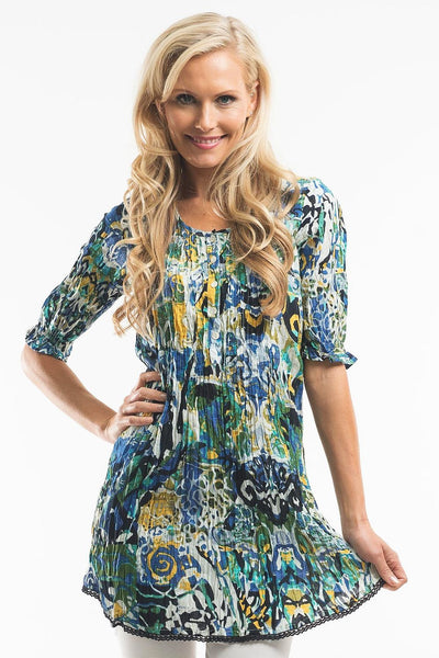Crinkle Shirt Tunic - at I Love Tunics @ www.ilovetunics.com = Number One! Tunics Destination