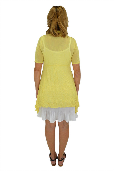 Yellow Long Mesh Cardigan - I Love Tunics @ www.ilovetunics.com