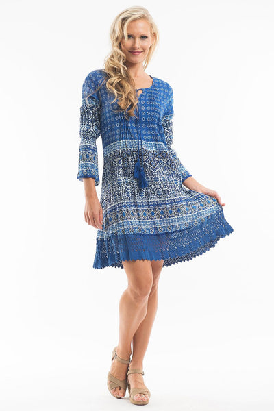 Blue Aztec Tunic