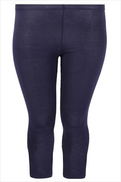 Navy 3/4 Plus Size Leggings - I Love Tunics @ www.ilovetunics.com