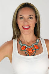 Orange Inca Goddess Necklace | I Love Tunics | Tunic Tops | Tunic | Tunic Dresses  | womens clothing online