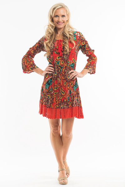 Orange Mandala Tunic
