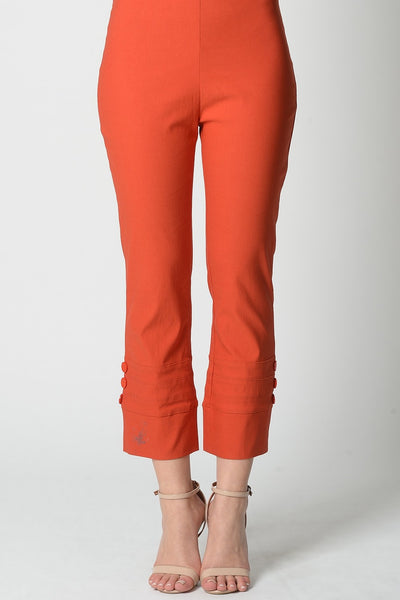 Orange 3 Button 7/8 Pant